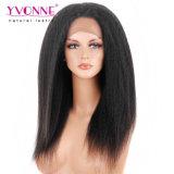 Yvonne 머리 흑인 여성을%s 비꼬인 똑바른 스위스 레이스 360 레이스 가발