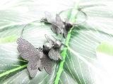 Новые поступления в виде бабочки гипоаллергенные Earring черного цвета для девочек