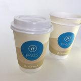 Печать логотипа 12 унций одноразовые двойные стенки горячего кофе чашку бумаги