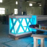 Tableau incurvé par type de fantaisie fait sur commande de réception de bureau de Corian d'éclairage LED de modèle d'usine