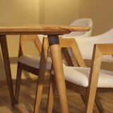 Restaurant moderne de meubles de salle à manger table à manger en bois (D12)