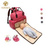 ミイラの赤ん坊のおむつ袋の方法倍の肩のバックパック十字ボディ袋