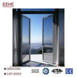 De Deur van het Glas van het Frame van het Aluminium van de Deur van het aluminium met Aangemaakte Verglazing