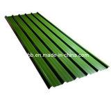 Barata de techos de metal recubierto de hojas de color