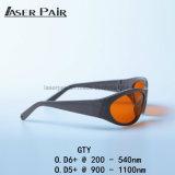 Beschermende brillen 532nm&1064nm van de Veiligheid van de laser voor de Machines van de Verwijdering van de Tatoegering van Nd YAG, de Systemen van de Laser met de Stijl van de Sport