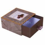 Коробка подарка шоколада коробки роскошного золота бумажная упаковывая с тесемкой