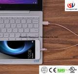Cable micro del USB (los 3FT), cuerda rápida Enredar-Libre del cable de la carga 2.4A del metal del animal doméstico del cable ultra durable de la prueba