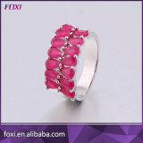 Wuzhou Foxi 최신 판매 CZ 금에 의하여 도금되는 보석 반지