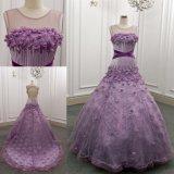 Luz Handmade das flores - vestidos roxos de Quinceanera do vestido de esfera
