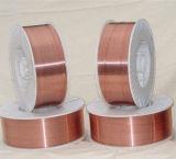 Alambre de soldadura sin gas revestido de cobre de MIG del alambre de soldadura Er70s-6