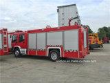 6 de Vrachtwagen van de Brand van de Tank van het Water van de Motor van de Brand van wielen 45L/S