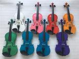 Instrument de musique de violon allemand rose avec archet de violon 4/4