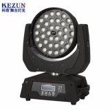 Farol de movimentação de 36 PCS 4 em 1 Luz de movimentação de LED com luz de Zoom