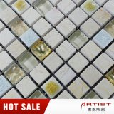 Белая малая мозаика цвета слоновой кости мрамора обломока, стеклянная мозаика мрамора смешивания