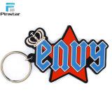 Pvc van de Douane van de fabriek direct Goedkoop Promotie 2D Gevormd Zacht Dier keychain