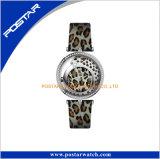 Madame véritable montre-bracelet de rue de mode de courroie en cuir de configuration animale