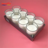 Pack de 8 Bougie en verre ordinaire Smalll blanc avec pack cadeau rétractables