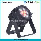 옥외 DMX 통제 27W RGB LED 단계 빛