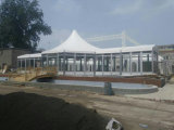 Große Aluminiumrahmen-Festzelt-Hochzeits-Glaszelt für Verkauf