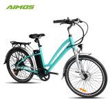 Fiets van de Stad van de Milieubescherming van Aimos de Groene Elektrische voor Dame