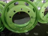 Дешевые цены бескамерные стальные колеса грузовика, погрузчик стальных колесных дисков, бескамерные обод колеса