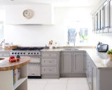 أبيض رجّاجة أسلوب [سليد ووود] مطبخ خزائن محدّد يجعل في الصين