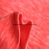 Paño grueso y suave micro del efecto de la impresión del catión, tela de la chaqueta (anaranjada)