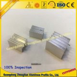 Perfil de alumínio personalizado fábrica da extrusão com areia Blasiting do CNC