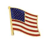 주문 국가 미국 깃발 접어젖힌 옷깃 핀