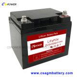 bateria recarregável do lítio LiFePO4 de 24V 50ah para solar (como a bateria de VRLA)