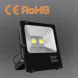 最も新しく高い内腔はIP66保証5年のの屋外100W LEDの洪水ライト高品質を防水する