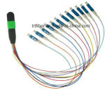 Femmina di MPO al cavo della fibra di memorie della fibra del maschio 12 di MPO