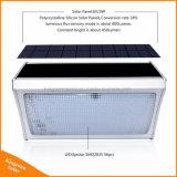800lm lâmpada solar brilhante da potência do sensor de movimento do radar de micrôonda do diodo emissor de luz da luz 56 para a parede ao ar livre da rua do jardim com de controle remoto