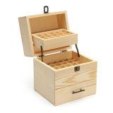 Caja de almacenamiento de aceite esencial de caja de madera recipiente de madera Organizer Box