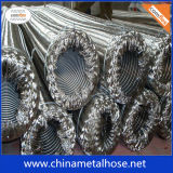 Manguito flexible acanalado con el tejido del alambre de acero