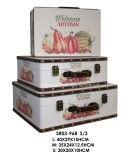 3秋様式のスーツケースの宝石箱のホーム装飾セット