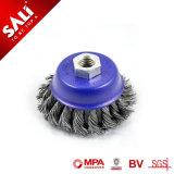 Precio de fábrica China de 100 mm de cepillo de alambre de acero trenzado