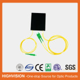divisor óptico del PLC del ABS-Rectángulo de fibra 1X2