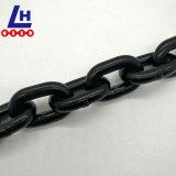 corrente de levantamento pintada preta do aço de liga G80 de 8mm