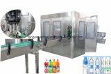 Planta de embotellamiento automática de agua del relleno en caliente del zumo de naranja de la bebida de la botella del cristal de botellas del animal doméstico que empaqueta la máquina de la unidad 3 in-1