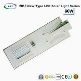 Novo tipo 2017 luz de rua solar completa 60W do diodo emissor de luz