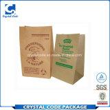 Bolso de basura reutilizable del papel de Kraft de la bolsa del alimento