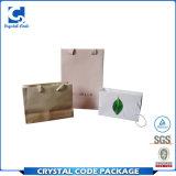 Bolsa de papel cosmética modificada para requisitos particulares promoción cómoda de la insignia de Eco