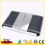 Reizend ledernes Geschäft Cardcase mit Deckel-und Leder-Metallnamenskartenhalter