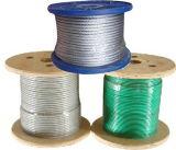 Kurbelgehäuse-Belüftung beschichtetes Edelstahl-Kabel 7X7 färben des Drahtseil-304