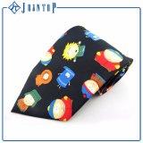 Polyester 100% en gros coloré lumineux de cravate d'impression de fleur