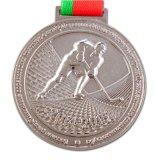Médaille d'argent molle en alliage de zinc d'émail en métal fait sur commande