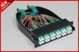 12 de Vezel Optische Singlemode MPO van kernen aan Modulaire de Cassette van de Kabel LC
