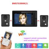sistema video sem fio/prendido de 7inch de WiFi do IP da porta do telefone de /Doorbell do intercomunicador da entrada
