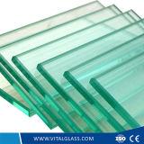 Tempered clair/verre trempé de 3 - de 12mm pour la glace de construction
